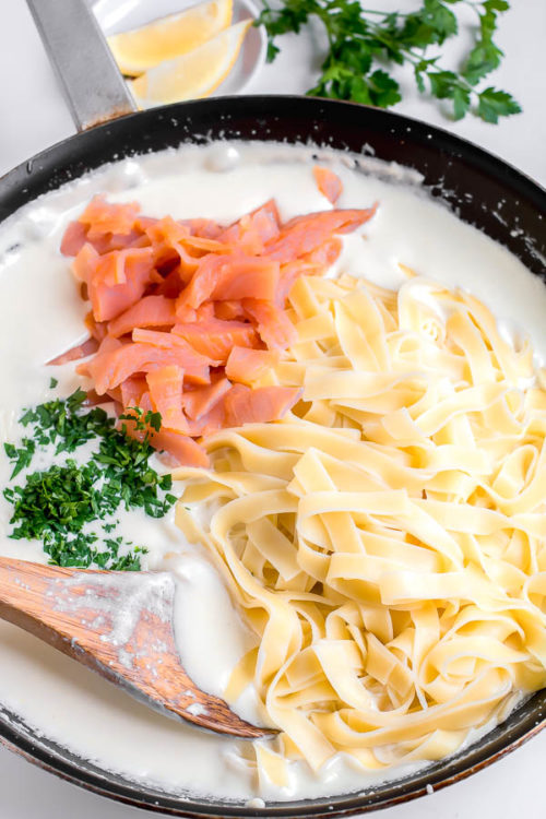 30 Minute Salmon Pasta Recipe Busy Cooks