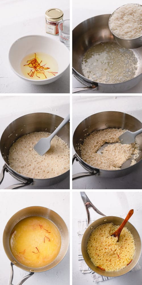 Step by Step Saffron Rice