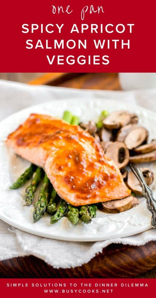 30-minute dinner with minimum prep, less dishes and maximum flavor. Sounds too good to be true? Yes, this spicy apricot salmon with asparagus and mushroom, roasted in one pan, is a REAL DEAL! I promise you the most delicious and effortless dinner in minutes. #bakedsalmon #onesheetdinner #easydinner #quickdinner #busycooks