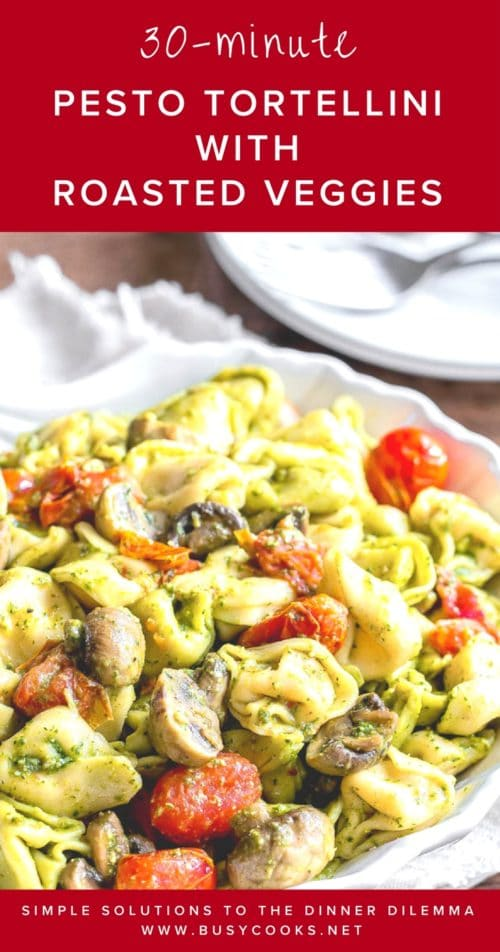 Quick and flavorful pasta dinner with bright and herby flavors. Your whole family will love it! And it comes together under 30 minutes!! #easydinnerrecipe #quickpastarecipe #frozentortellini #busycooks