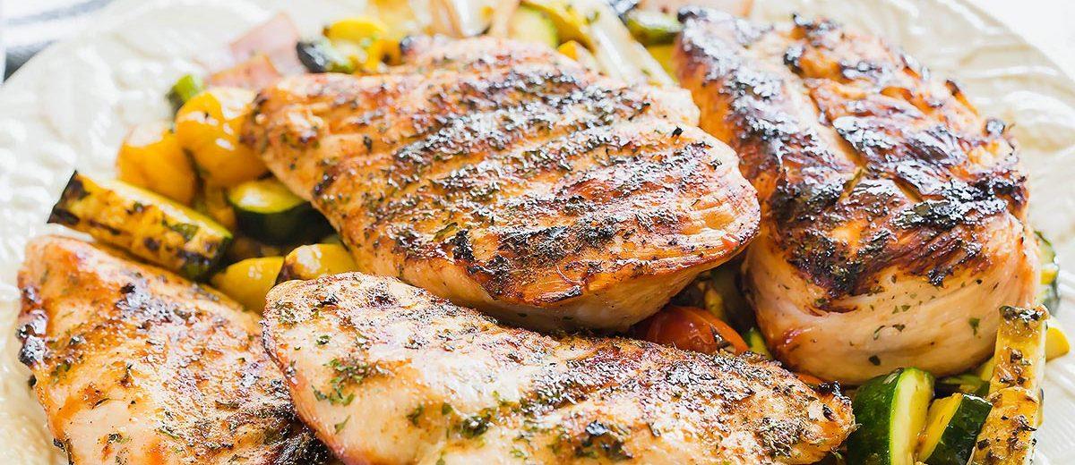 Easy grilled boneless chicken breast