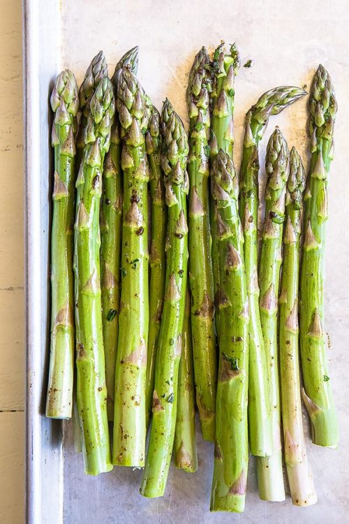 Asparagus takes mere minutes to cook. So keep a close eye on them!  #grilledvegetables #vegetablemedley #mixedvegetables #sidedish #potluck #busycooks