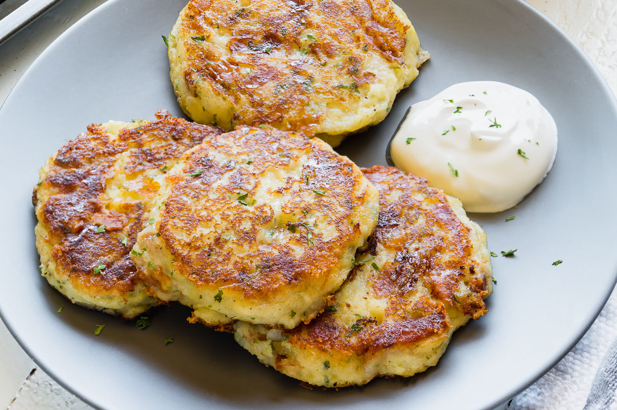 The BEST Loaded Mashed Potato Patties - Busy Cooks