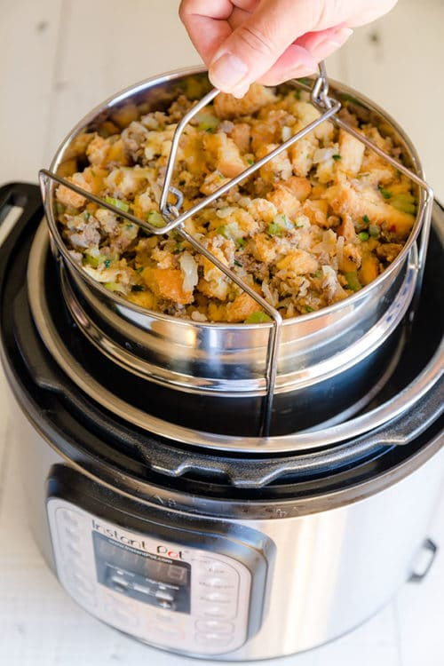 Pot in pot cooking, sometimes referred to as PIP cooking, is a technique that allows the user to cook using an oven safe bowl placed on a steam rack inside the Instant Pot. There are several benefits to using this method. Read on to learn those benefits. #instantpot #potinpotcooking #busycooks #instantpotcooking