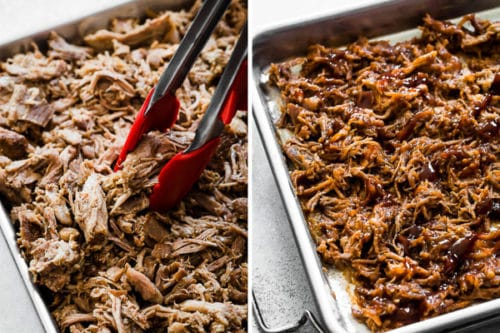 Instant Pot Pulled Pork - sharing my secrets to super tender and smoky pulled pork in 90 minutes! Plus, 9 side dish options and 5 ways to serve leftovers! #pulledpork #instantpotpulledpork