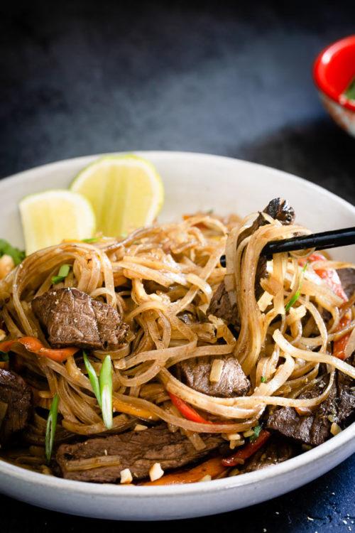 Leftover Steak Pad Thai Busy Cooks