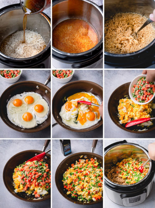 Let's make amazing Instant Pot fried rice comes together in less than 25 minutes! And no leftover rice is required. Learn my tips from my recipe testing! #InstantPotfriedrice #friedrice #instantpotrecipe