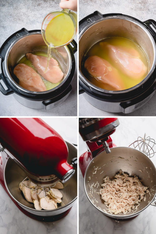How to cook frozen chicken breasts in Instant Pot, step by step. Juicy flavorful chicken guaranteed! #frozenchickenbreast #InstantPotrecipe #Instantpotchicken