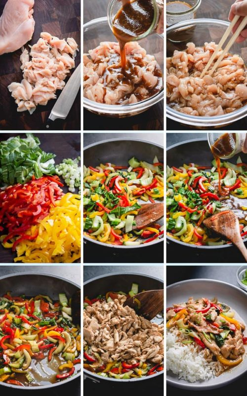 Steps to make a Chinese Stir Fry