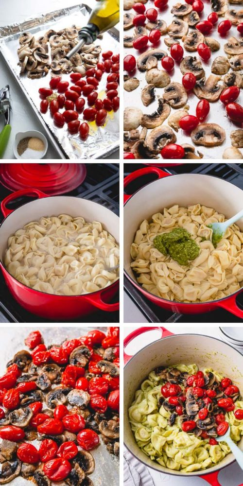 Step by step guide to a tasty Pesto Tortellini.