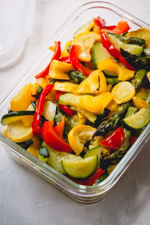 How to store and repurpose oven roasted vegetables. #roastedvegetables