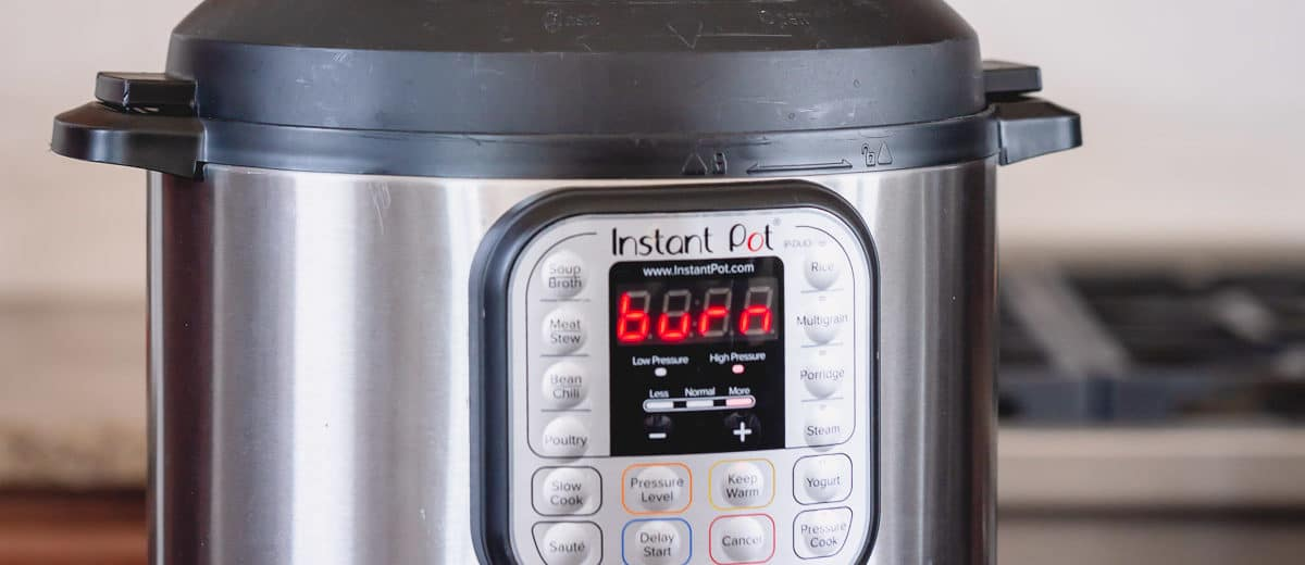 Instant Pot Burn message is frustrating! Avoid these 4 mistakes that triggers this warning, plus Instant Pot troubleshooting steps to fix the issue.