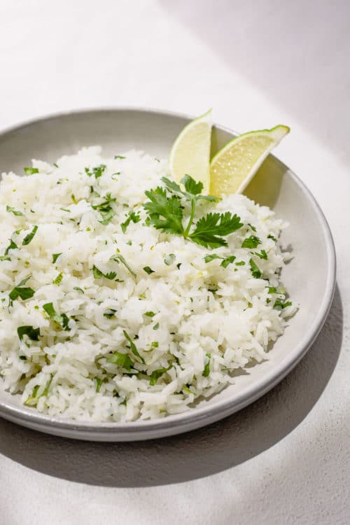 Try this flavorful Cilantro Lime Rice for a change. It's just as quick and easy as the plain rice, and super versatile! This zesty rice complements any Mexican and Asian dishes and pairs perfectly with any chicken, beef and pork!